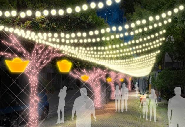 礁溪鄉公所在溫泉區推出跨年的「2019-2020礁溪溫泉燈花季」,今天下午5點就...
