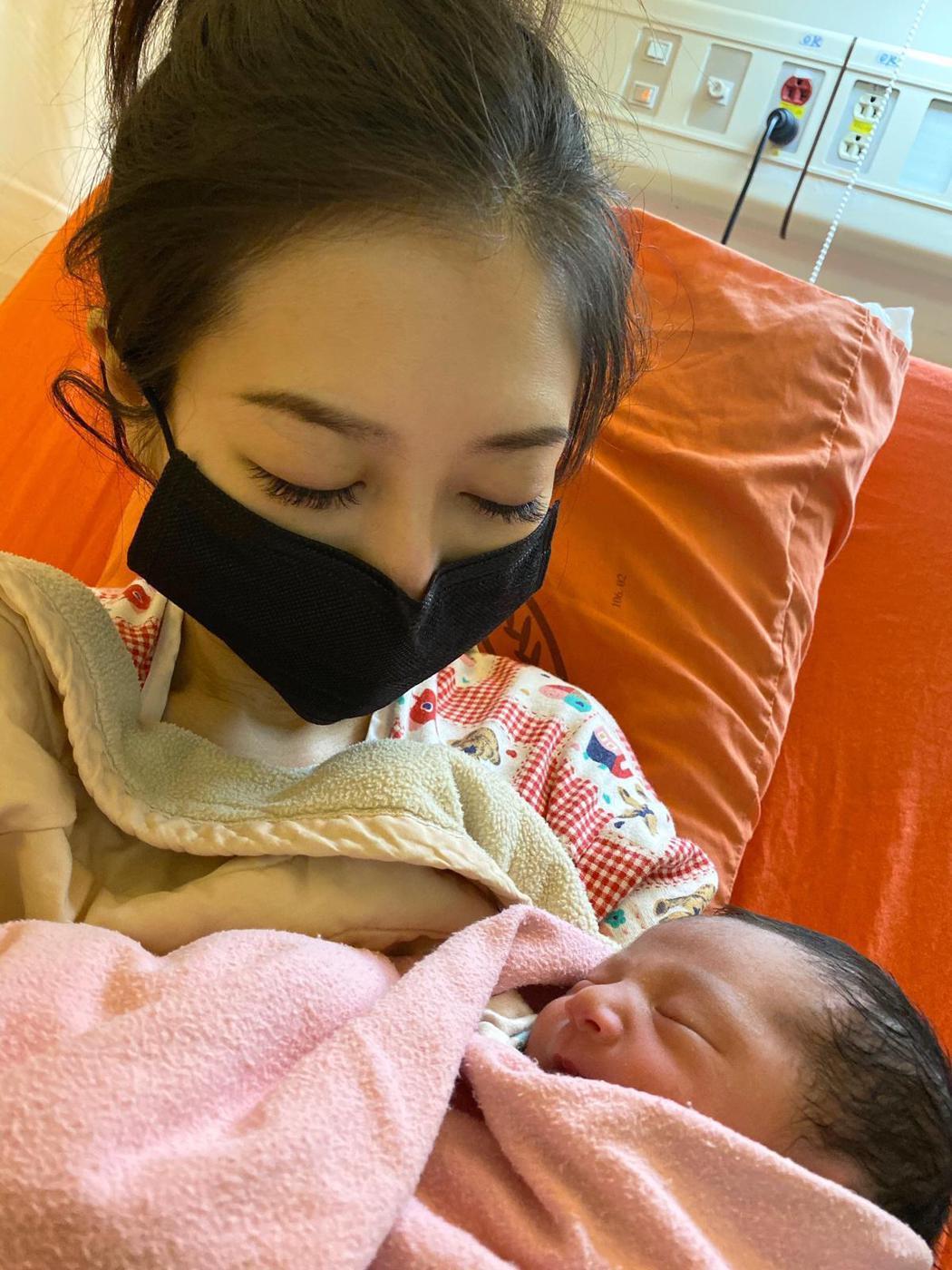 潘逸安老婆 Vivian順利產下健康女兒。圖/艾迪昇傳播提供
