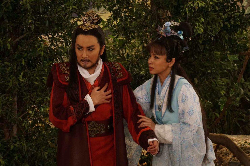 陳亞蘭(右)在「孝感動天」中重傷,瀕臨領便當。圖/麗生百合提供