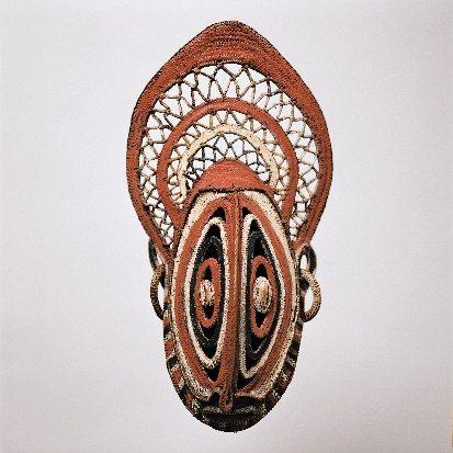 大洋洲巴布亞紐幾內亞的薯蕷面具。圖/故宮南院提供