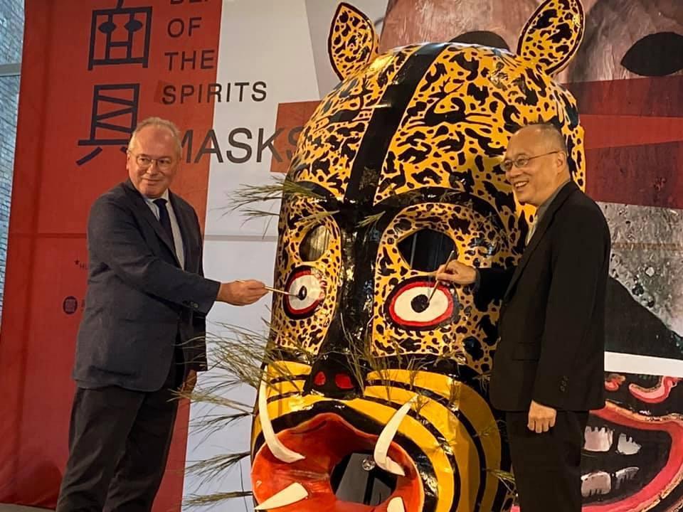 故宮南院首度與法國凱布朗利博物館合作舉辦「法國凱布朗利面具精品展」,上午盛大開幕...