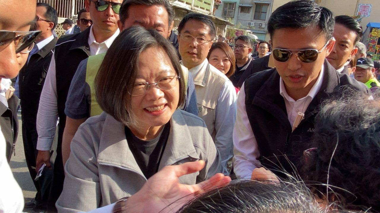 蔡英文總統今天到台南輔選。記者鄭維真/攝影