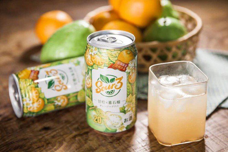台灣限定「芭樂柳橙汁」微醺風味讓人著迷,建議售價每罐49元。圖/SOUR3提供