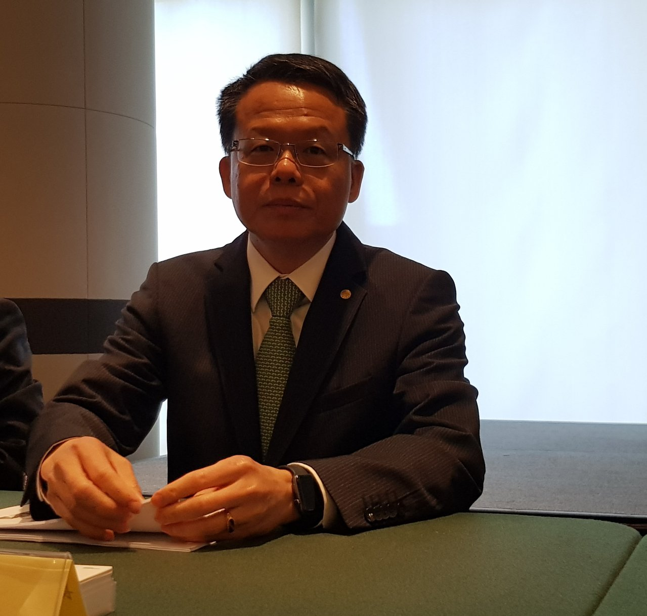 長榮航空總經理孫嘉明。(記者曾仁凱/攝影)