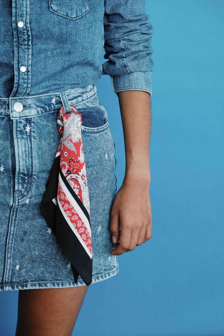 maje首度推出以永續時尚為命題的First Stone限量丹寧服飾系列。圖/m...