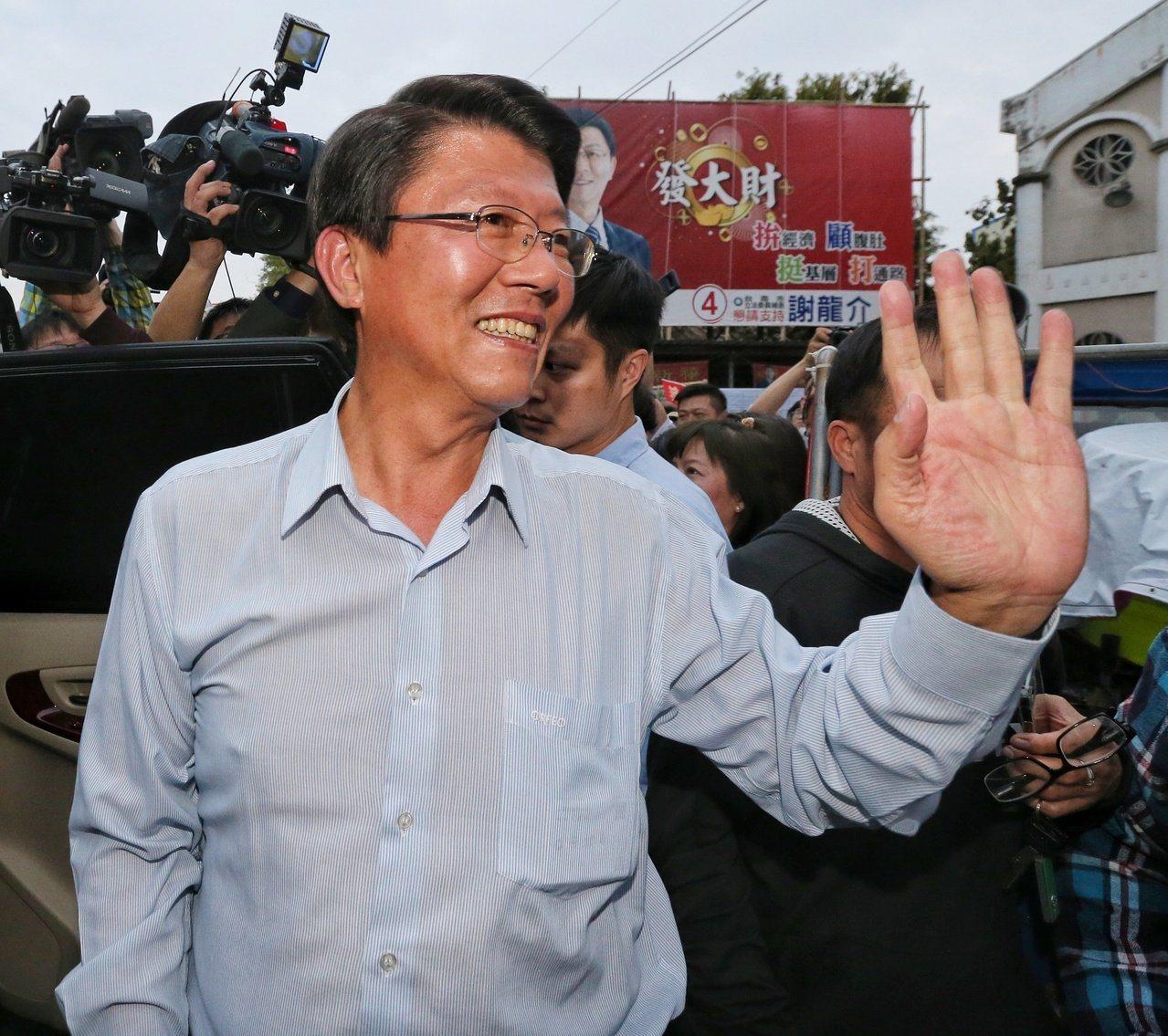 國民黨台南市黨部主委謝龍介。本報資料照片