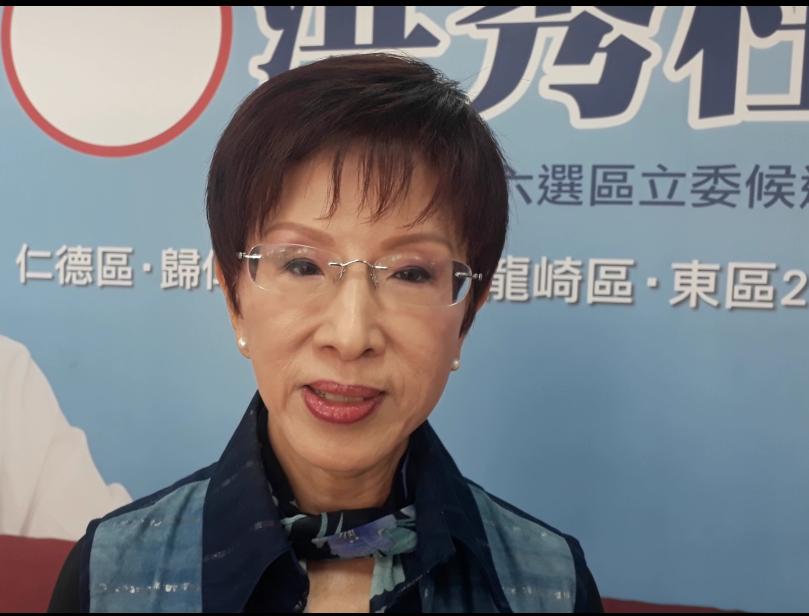 洪秀柱對國民黨新出爐不分區名單「有肯定、有憂心、又期待」。記者周宗禎/攝影