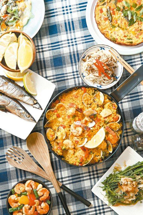 多色蔬菜、攝取好油是地中海飲食的特色,對顧大腦健康有助益。 圖/聯合報系資料照片