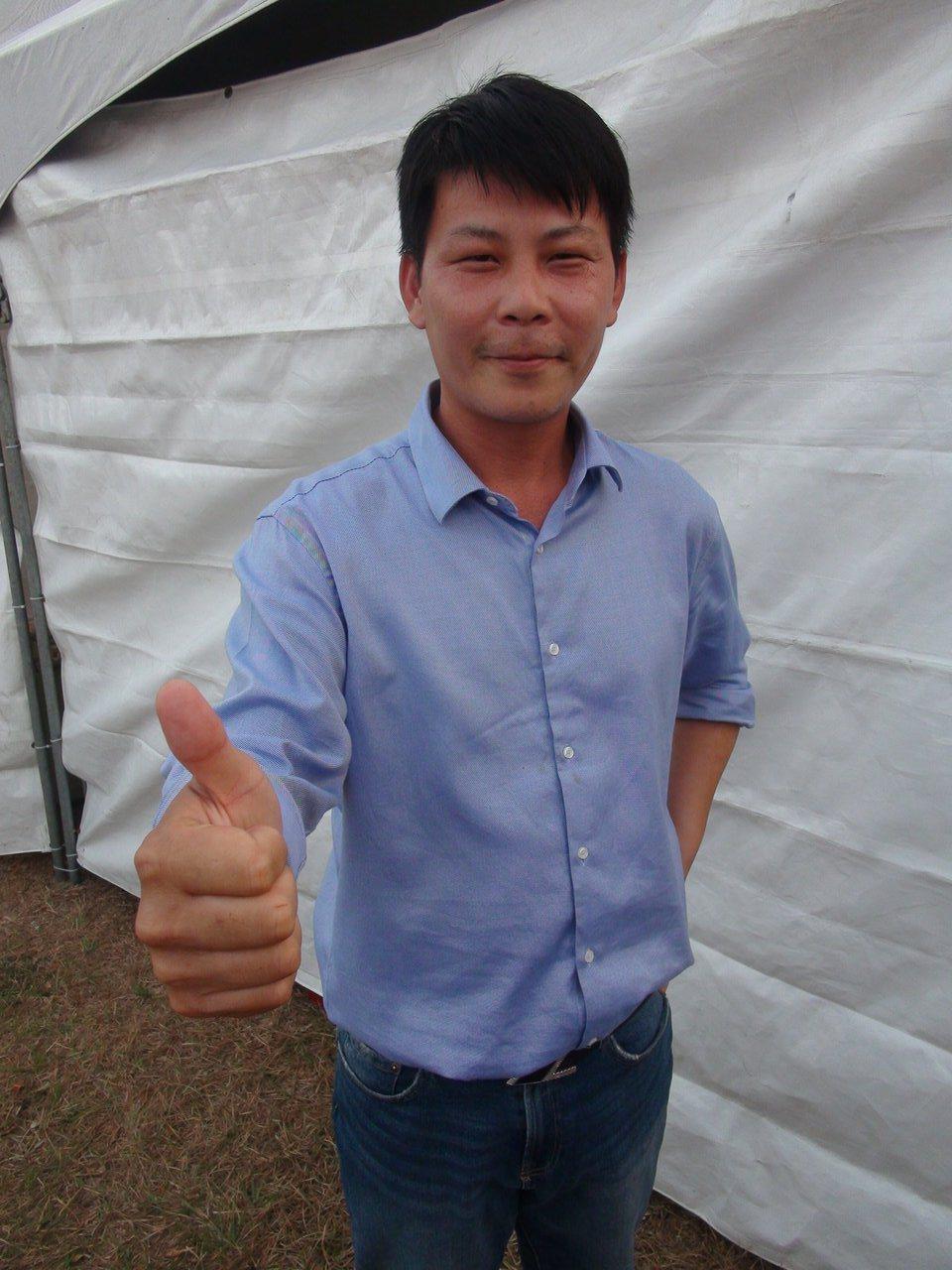 台中市立委第一選區參選人林佳新。記者余采瀅/攝影