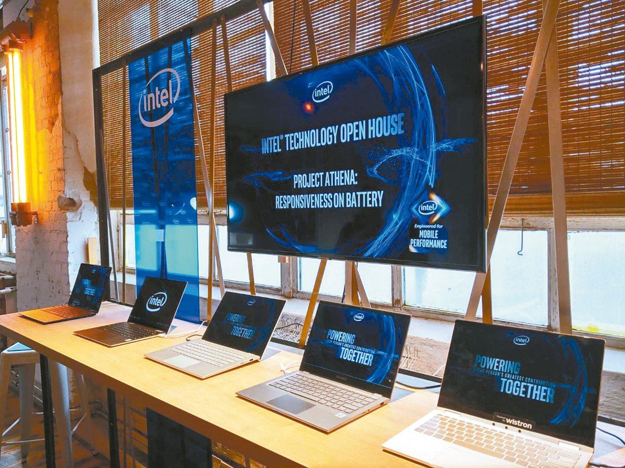 英特爾在IFA展前,展示與筆電廠商合作的終端產品。 圖/聯合報系資料照片
