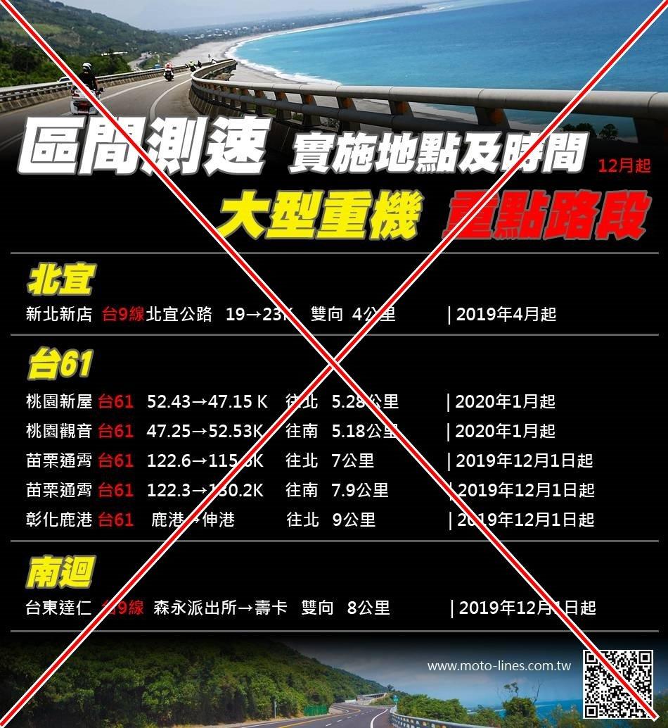 網路流傳這張全台省道區間測速表格,台東縣警局交通隊表示,部分訊息是錯。圖/擷取自...