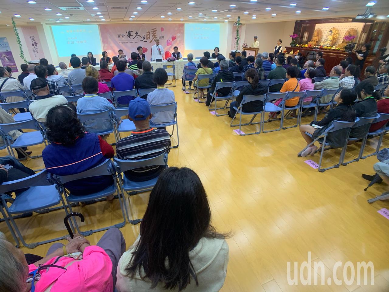 今天的活動共有台中市西區10個里和南屯區2個里約120名里民出席。記者張念慈/攝...