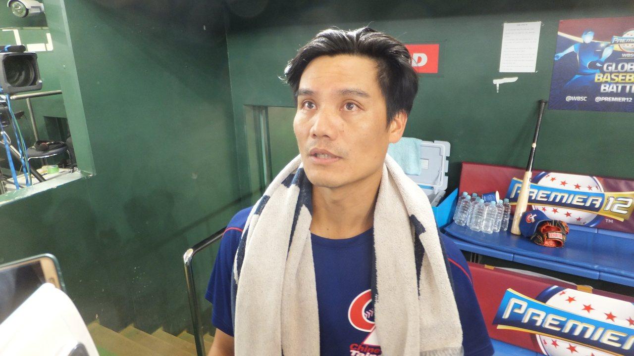 王勝偉享受12強賽,認為全隊在比賽過程互相鼓勵。記者藍宗標/攝影