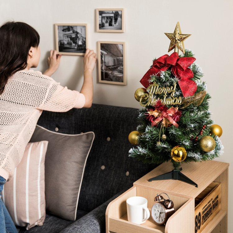 特力屋2尺紅果燦金耶誕樹,售價899元。圖/特力屋提供