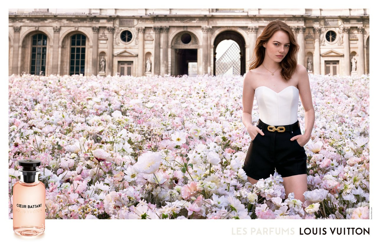 路易威登發表由品牌大使艾瑪史東演繹的第二支香水形象廣告。圖/LV提供
