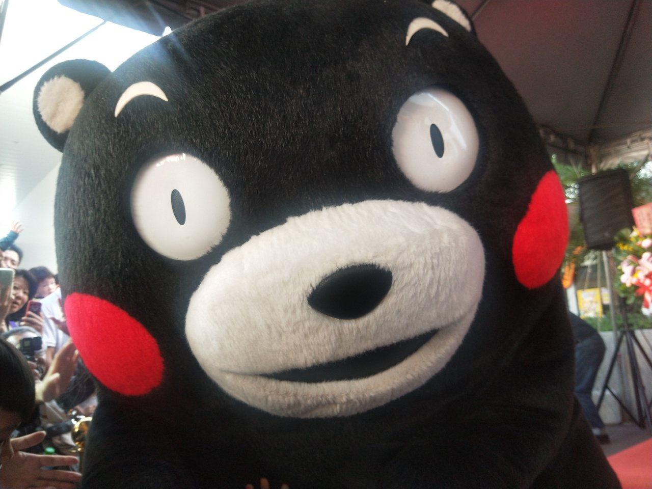 酷MA萌!熊本熊可愛搞怪體操舞萌翻基隆。記者游明煌/攝影