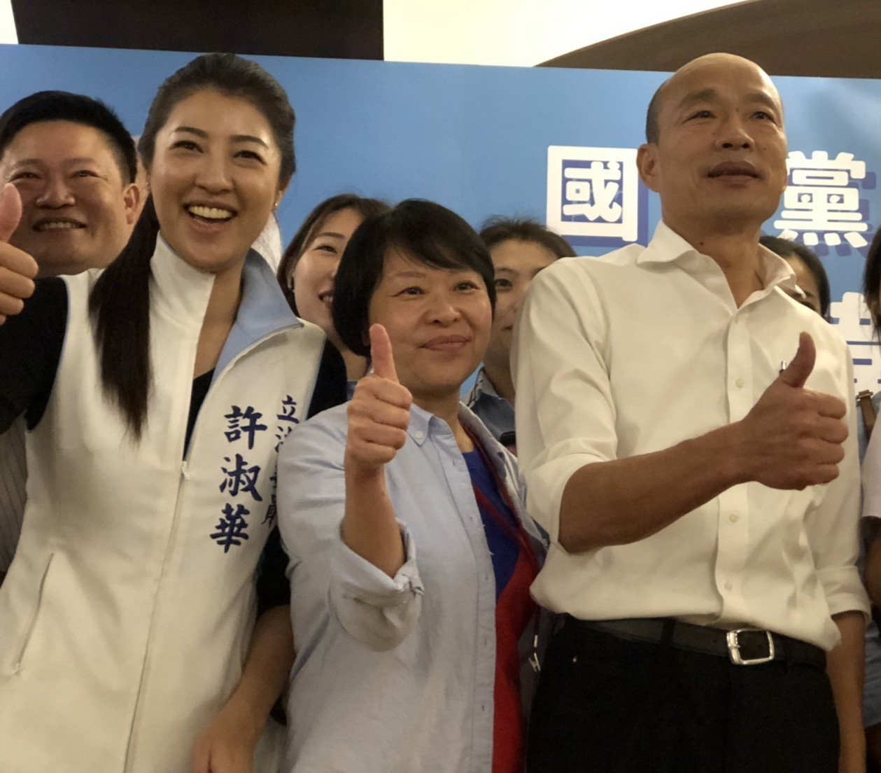 韓國瑜(右)24日將與立委許淑華(右)合體造勢。圖/本報資料照片