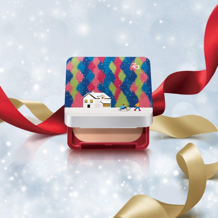 Za粧自然無瑕粉餅極光限定組,售價330元,共4色。圖/Za提供