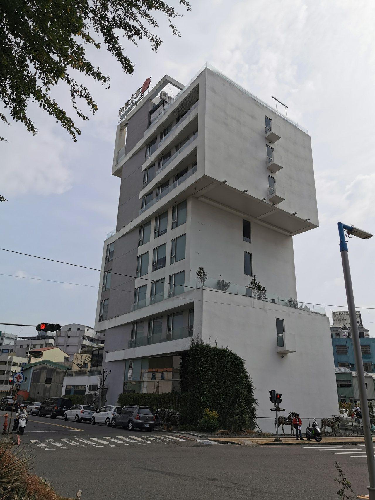 「承億文旅」桃城茶樣子,建築就呈現獨特風格。記者卜敏正/攝影