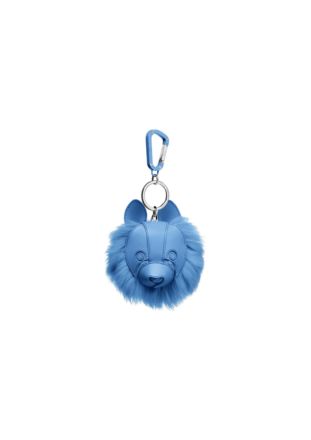 DIOR Cookie藍色光華小牛皮與兔毛鑰匙圈,售價28,000元。圖/DIO...