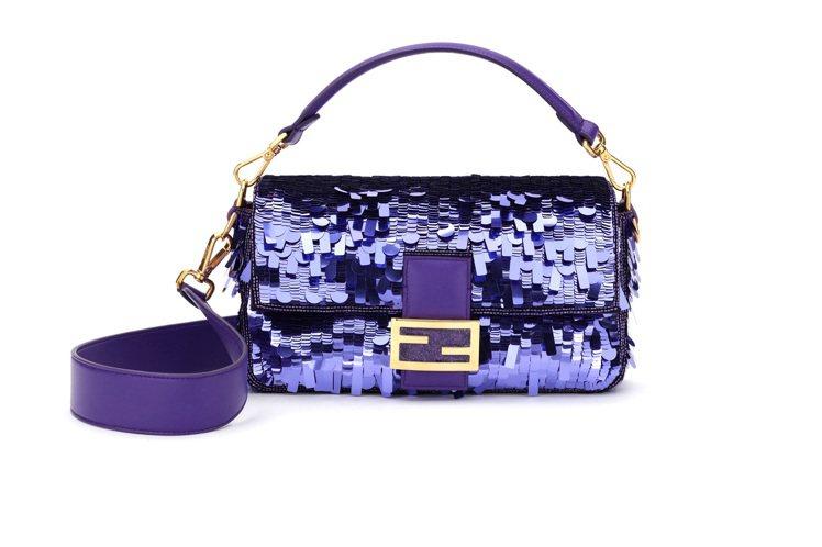 FENDI紫色Baguette,售價13萬元。圖/FENDI提供