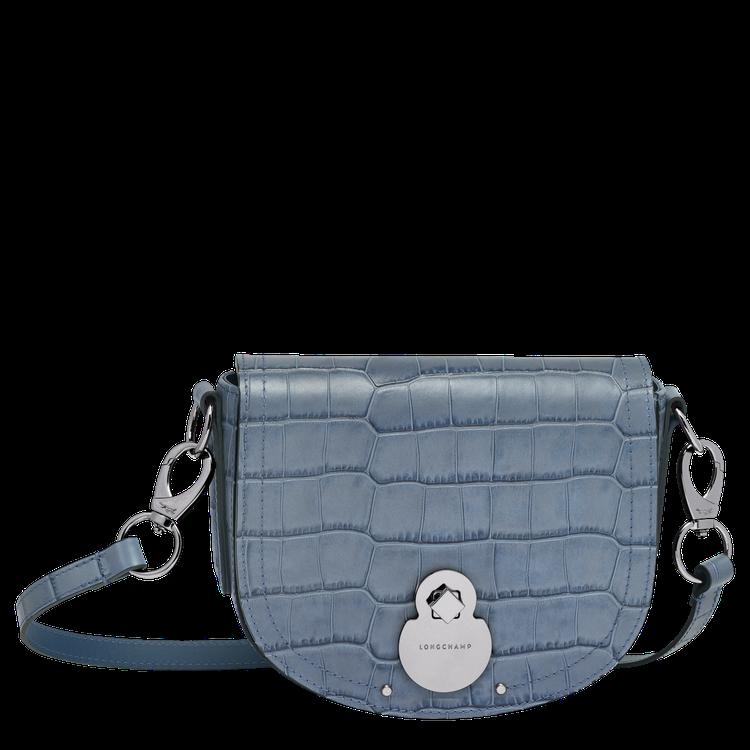 LONGCHAMP Cavalcade Croco雲藍色斜背包,價格店洽。圖/L...