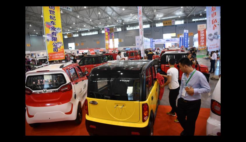 2018年在成都舉辦的中西部最大規模新能源車展。圖╱中新社