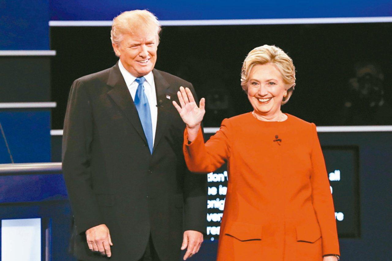 美國二○一六年大選,共和黨內有超過八人角逐提名,最後皆不敵川普(左);其後民主黨...