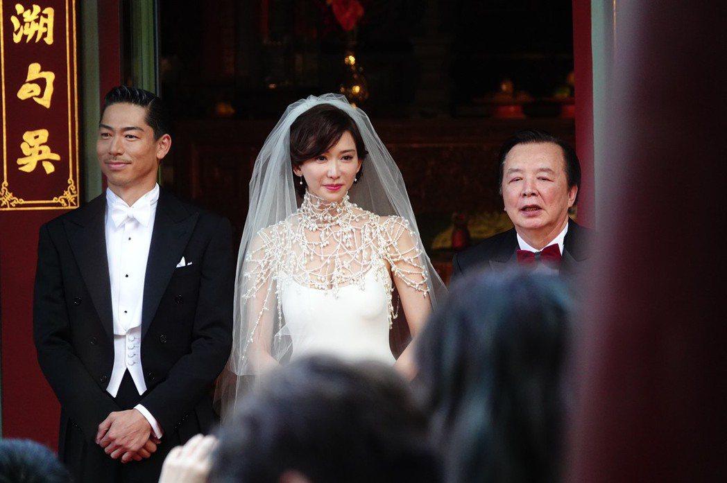 林志玲和AKIRA進行結婚儀式,林志玲紅了眼框。記者林伯東/攝影