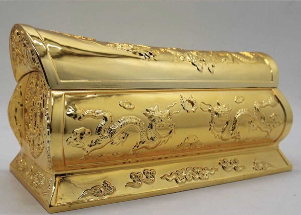 台南嫁妝要送金棺材,聽起來嚇人,其實裡面是滿滿的美意。圖/取自網路