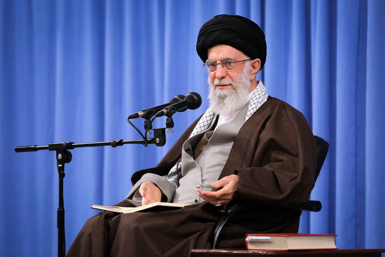 圖為伊朗最高領袖哈米尼(Ayatollah Ali Khamenei)。 歐新社