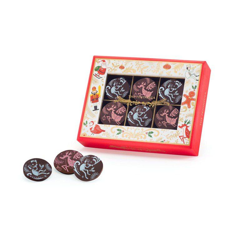 半島聖誕水果風味巧克力片。圖/半島精品店提供