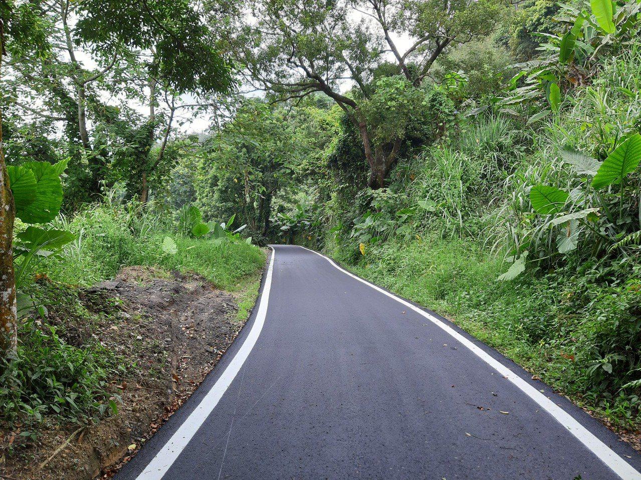 台中市政府統計,投入約6,000萬元一次燙平東勢區18公里道路。圖/建設局提供