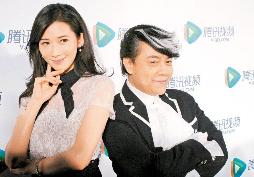 林志玲、蔡康永合作多次。圖/聯合報系資料照