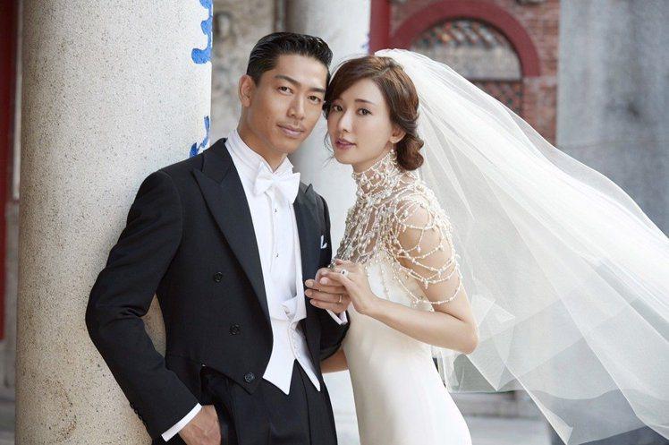 林志玲與AKIRA婚紗照。 圖/林志玲工作室提供