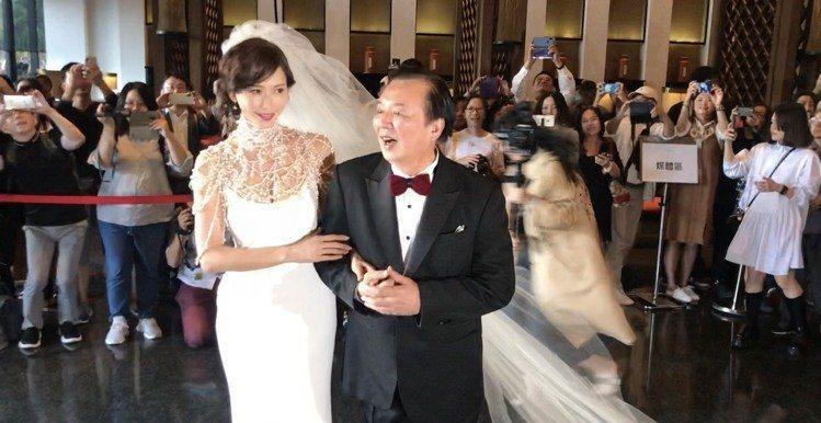 林志玲(左)今天大婚。記者黃保慧/攝影