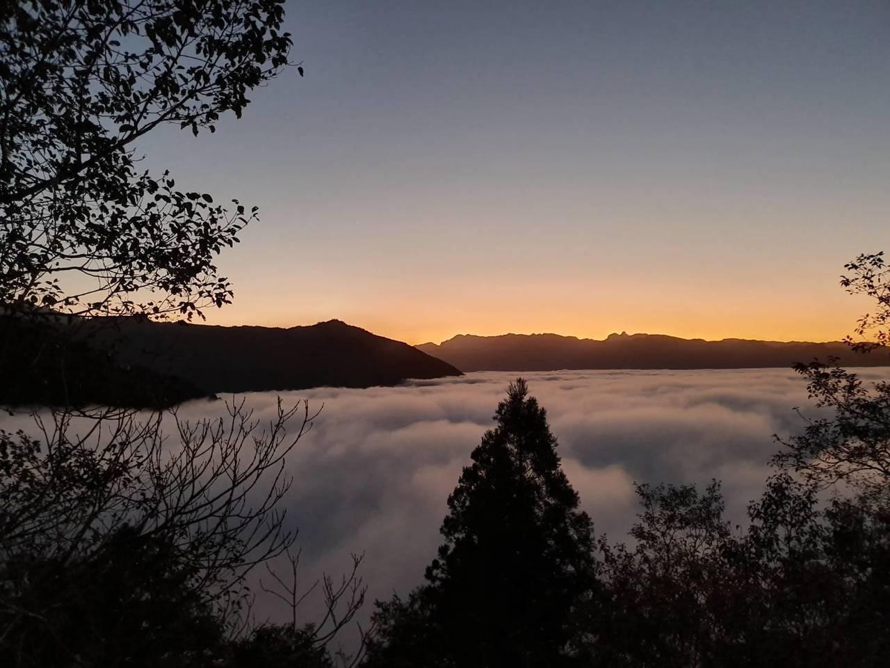 太平山宜專一線22公里到24公里的雲瀑。圖/羅東林管處提供