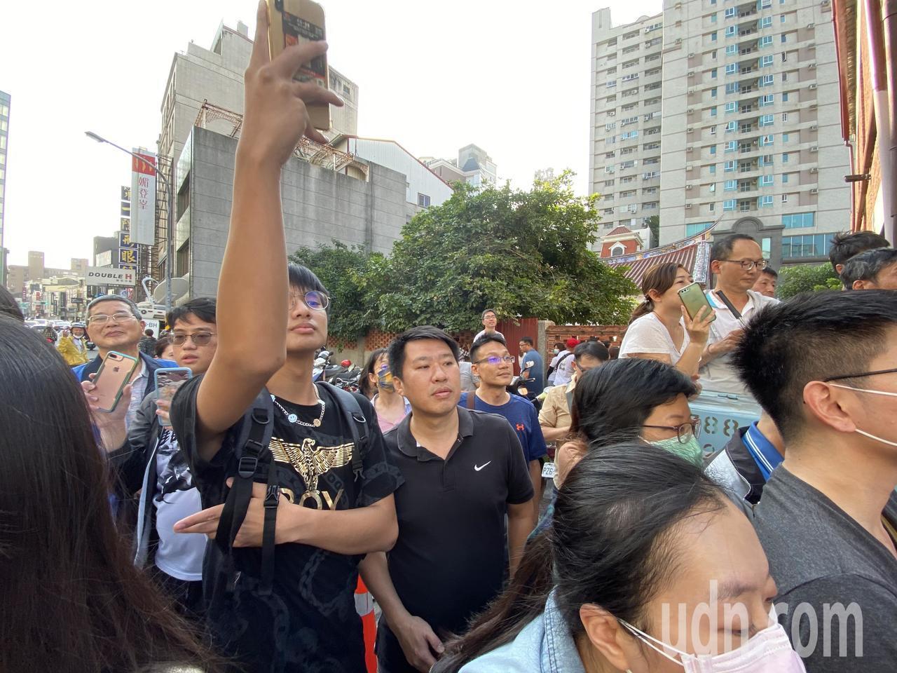 名模林志玲今天在台南出嫁,現場萬人空巷。記者修瑞瑩/攝影