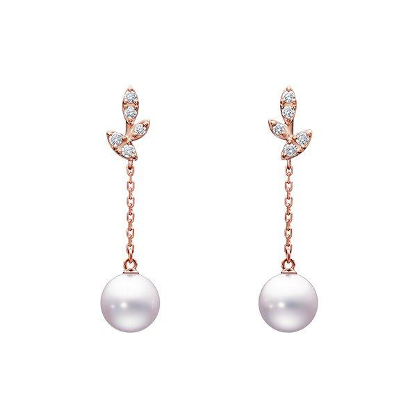 林志玲今天也配戴了TASAKI kugel櫻花金鑽石珍珠耳飾完成終身大事。圖/摘...