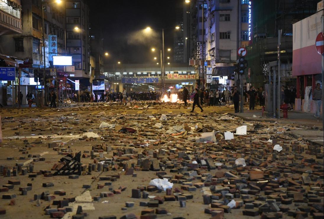 香港反送中運動持續五個月。圖/取自香港中通社