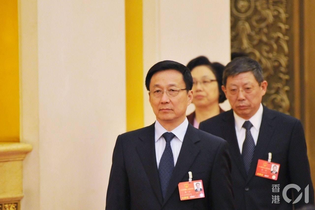 主管香港事務的大陸國務院副總理韓正。圖/取自香港01