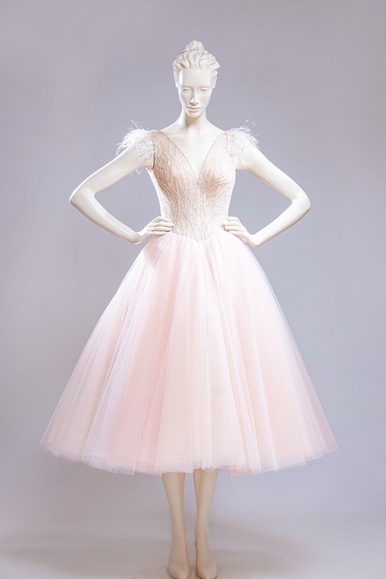 台灣婚紗品牌蘇菲雅為林志玲訂製晚宴禮服。圖/SophiaRitz提供