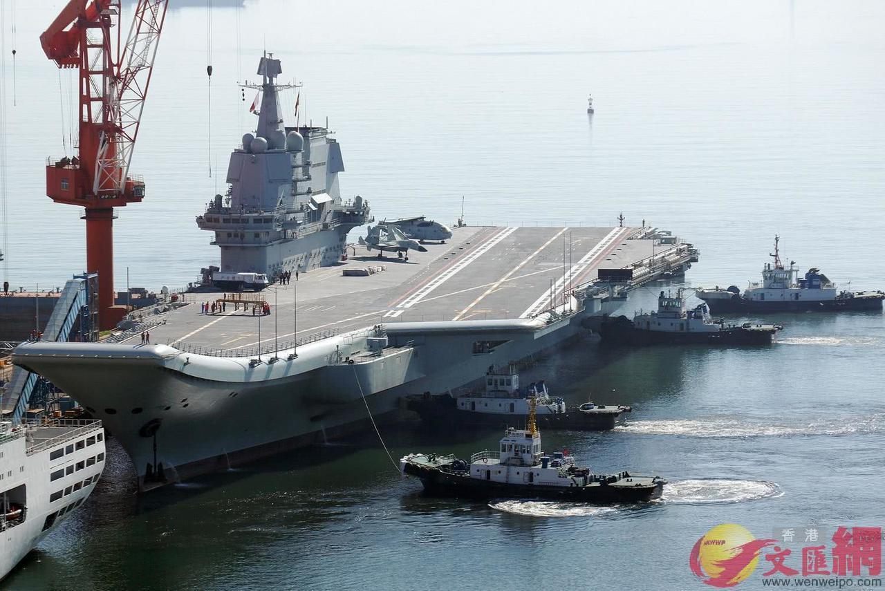 共軍首艘自製航母在今年5月31日完成第六次海試。圖/取自文匯報