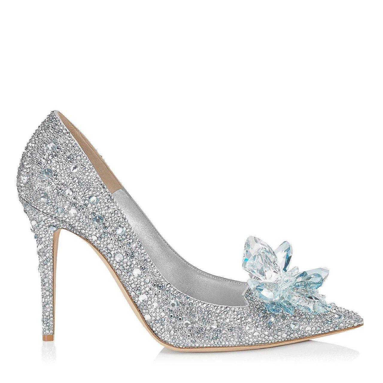Jimmy Choo Cinderella系列灰姑娘玻璃高跟鞋,約15萬7,80...