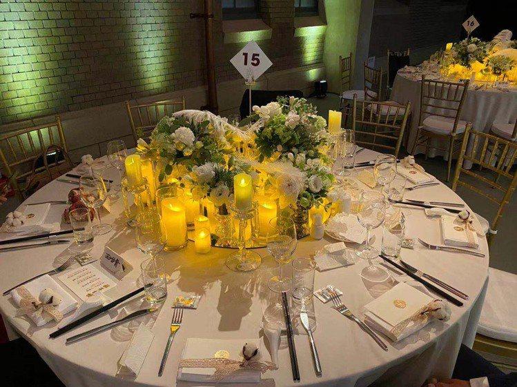 林志玲大婚宴客桌。圖/讀者提供