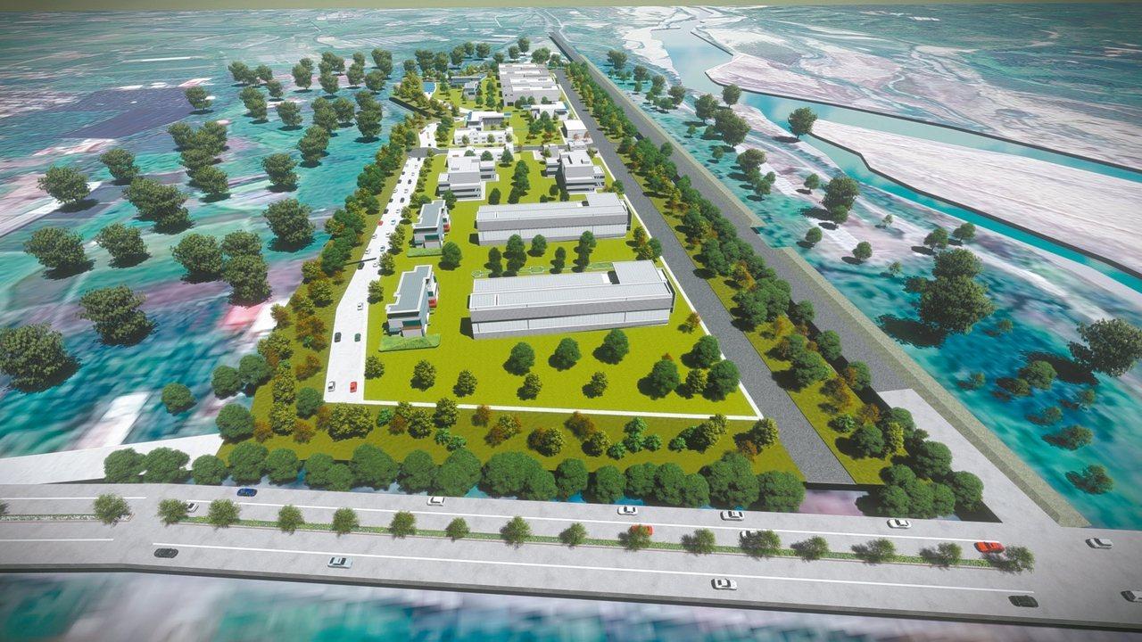 竹山南雲大橋旁的空閒土地,將變成竹藝產業園區(示意圖),預計可提供20至30家竹...