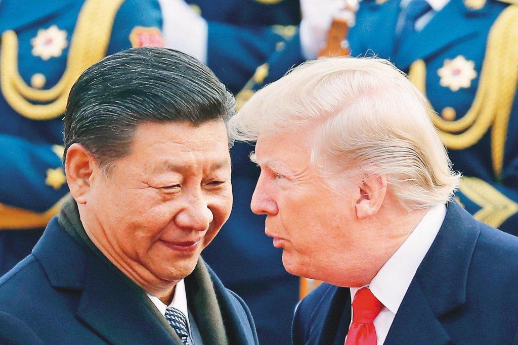 美中貿易戰牽動台美與兩岸關係。圖為美國總統川普(右)與大陸國家主席習近平。(美聯...