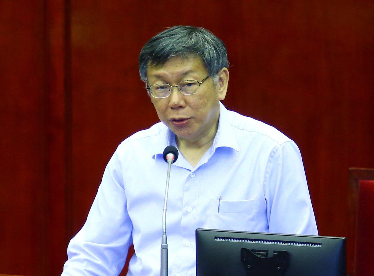 台北市長柯文哲。聯合報系資料照片/記者杜建重攝影