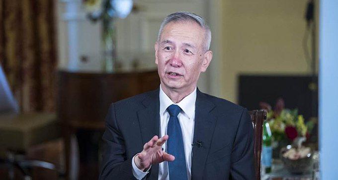 大陸國務院副總理劉鶴。美聯社