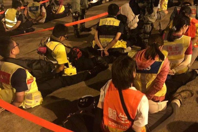 疑大批急救員被捕 記協:離開理工大學的人均會被捕